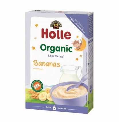 Organic Milk Cereal with Bananas