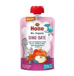 Dino Date - Apple with Blueberries & Dates Pouch 100g