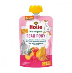 Pear Pony - Pear Peach & Raspberries with Spelt Pouch 100g