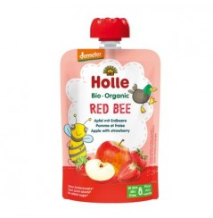 Red Bee - Apple with Stawberries Pouch 100g