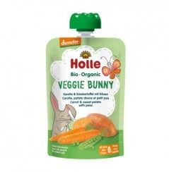 Veggie Bunny - Carrot & Sweet Potato with Peas Pouch 100g